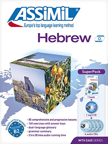 Hebrew with Ease ASSIMIL Method - Superpack (1 book + 4 audio CDs + 1 Mp3 CD) (Hebrew Edition)