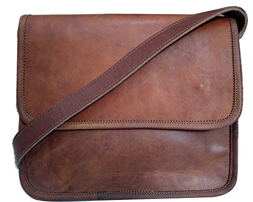 Prime Leather Bag Laptop Messenger Bag Leather Briefcase Leather Satchel Bag 11x9 inches by Fair Deal