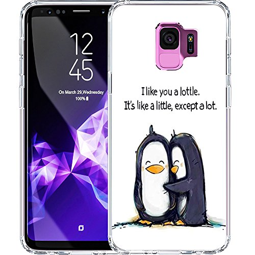 - S9 Case, LAACO Scratch Resistant TPU Gel Rubber Soft Skin Silicone Protective Case Cover for Samsung Galaxy S9 Cute little penguin