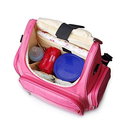 Kangming gran capacidad bebé pañal cambiantes mochila resistente al agua Mummy bolsa de almacenamiento para Viajes azul marino rosso