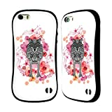 Official Monika Strigel Wolf Animals And Flowers Hybrid Case for Apple iPhone 5 / 5s / SE