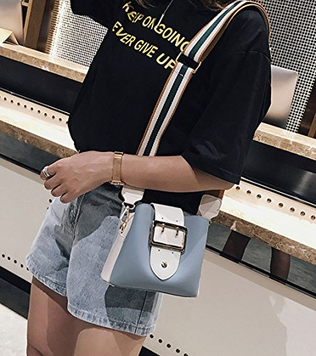 Bolsos Carteras clutches y Azul bolsos de y de Shoppers Mujer bandolera hombro mano wXCZSTxq
