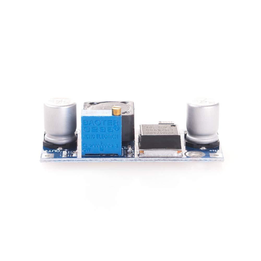 5 St/ück ANGEEK LM2596S DC Spannung Stromversorgung Step Down Modul von3,2-40V nach1,25-35V f/ür Arduino