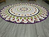 "Lightweight Microfiber Beach Towel Round 59"" Floral Geometry - Best Reviews Guide"