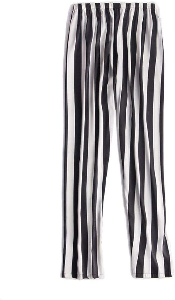JURTEE Camicia da Notte Donna,Pigiama A Righe Set Sciolto Plus Size Pigiama Donna Lungo 3 Pezzi,Fionda Camicia,Pantaloni /& Cappotto Lungo con Cintura