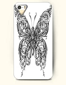 iPhone 5 / 5S Case, SevenArc Phone Cover Series for Apple iPhone 5 /5S Case -- Exquisite Huge Silverback Butterfly...