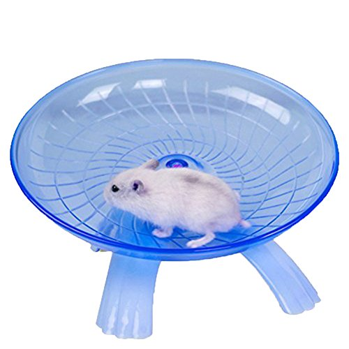 Small Animal Comfort Exercise Wheel for Pet Syrian Hamsters Rat Gerbils Mice Chinchilla Guinea Pig Squirrel (Blue)