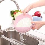 korean flat rice cakes - Kitchen Tools & Gadgets - Vegetable Basin Wash Rice Sieve Thickening Wheat Straw Clean Rice Machine Fruit Bowl Basket Kitchen - Quinoa Strainer Fruit Colander Rice Washing Bowl - Japanese - 1PCs