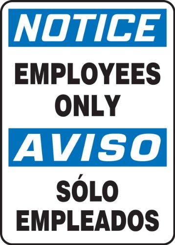 Accuform SBMADC804VP Plastic Spanish Bilingual Sign, Legend