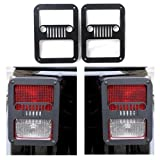 Daniel Tail lamp Tail light Cover Trim Guards Protector for Jeep Wrangler Sport X Sahara Unlimited Rubicon 2007-2015 - pair