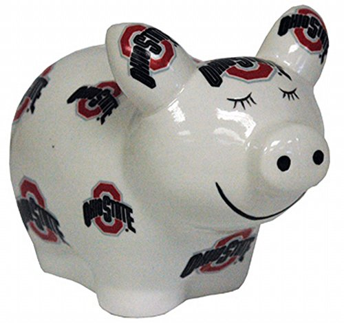 NCAA Ohio State Buckeyes Piggy Bank with All Over Logo