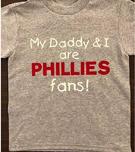 My Daddy and I are Phillies fans little Phillies fan shirt toddler Phillies tees
