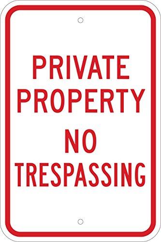 Brady Reflective Aluminum Standard Trespassing