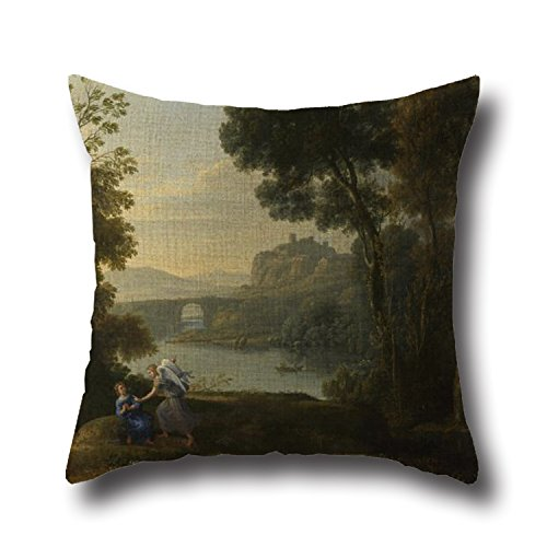 cushion-cases-of-monet-landscape-painting-country-village-20-x-20-inches-50-by-50-cmbest-fit-for-din