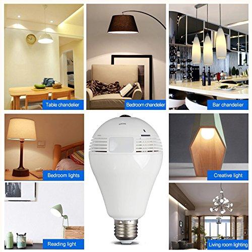 Borme Light Bulb Wifi Hidden Camera 360-Degree Fisheye - Import It All