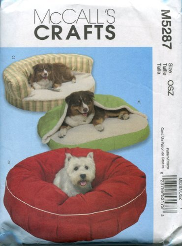 McCall's Crafts Sewing Pattern M5287 Pet Beds