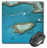 3dRose LLC 8 x 8 x 0.25 Inches Mouse Pad, Australia, Whitsunday isl and s, Heart Reef-Au01 Cmi0032 - Cindy Miller Hopkins (mp_76144_1)