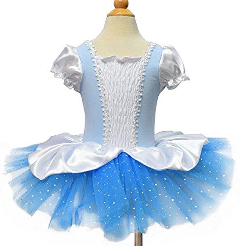 Moonight Girls Cinderella Short Sleeve Tutu Ballet Party (Cinderella Tutu Dress)
