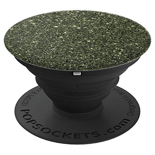 Olive Green Sparkle, Green Camo, Camouflage - PopSockets Grip and Stand for Phones and Tablets