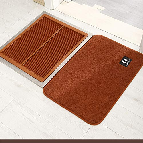 VBARV Indoor Scraper Door Mat,Shoe Soles Disinfecting Floor Mat, Automatic Cleaning Household Foot Pads, Disinfection Doormat, for Front Door Inside Floor Dirt Trapper Mats