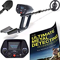 New Home Innovations NHI Classic Metal Detector with Pinpointer - All Terrain Waterproof Search Coil Detects All Metal