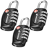 TSA Approved Luggage Locks, Fosmon (3 Pack) 4 Digit Combination Padlock Codes for Travel Bag, Suit Case, Lockers, Gym, Bike Locks or Other