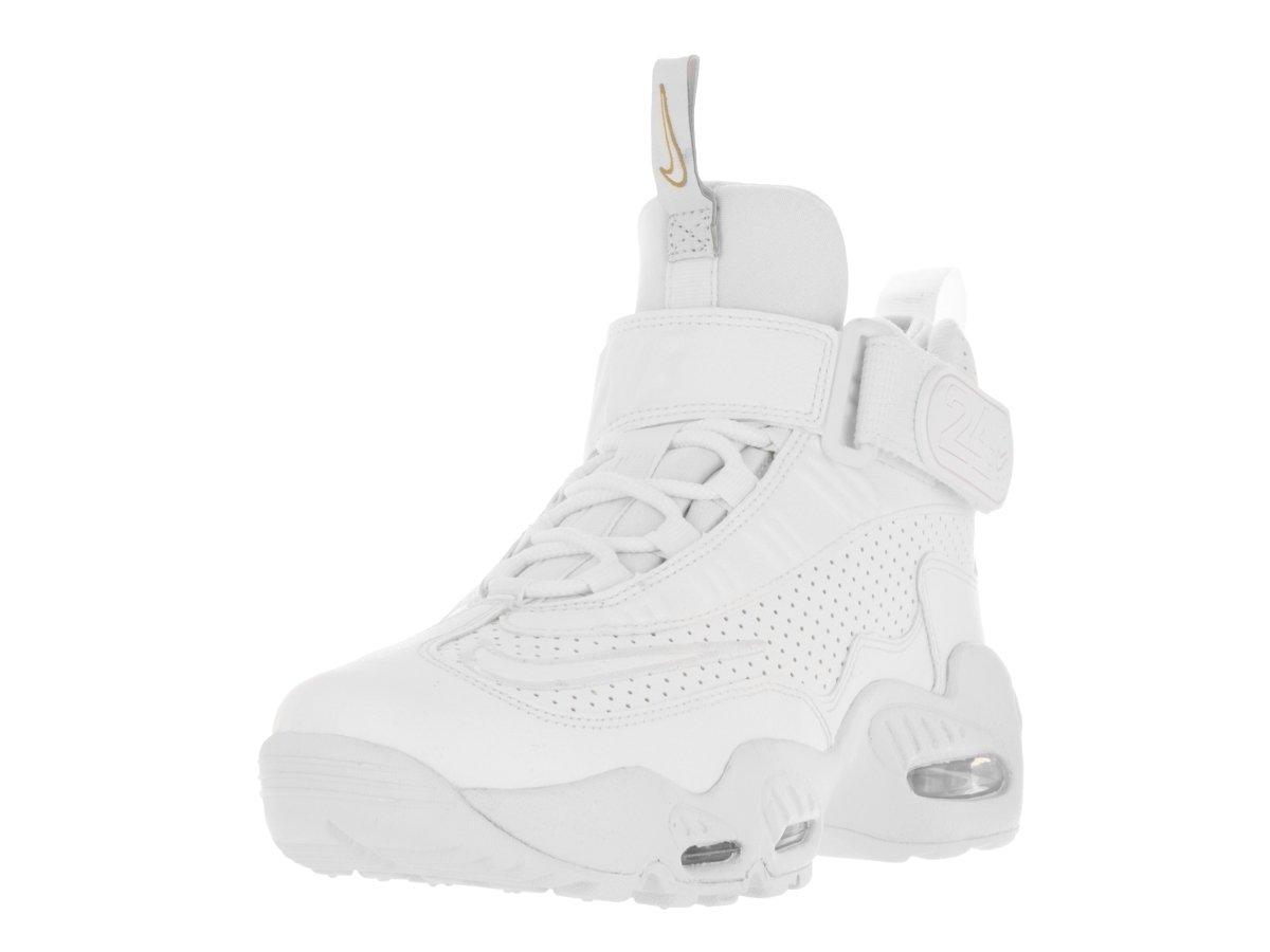 Nike Kids Air Griffey Max 1 (GS) White/White Blue Glow Mtlc Gld Training Shoe 4.5 Kids US by NIKE