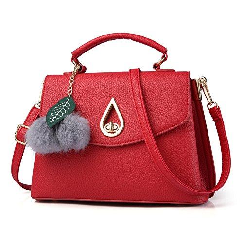 DHFUD Sac Red Bandoulière Bandoulière Cuir Sac à En Femmes à Main Mode nnw46fa