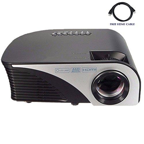 Best review of video projector dihome lcd led 1200 lumens for Highest lumen pocket projector
