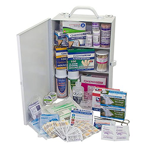 Person 1 First Aid (SAS Safety 6099-01 100-Person First-Aid Kit, Metal Cabinet)