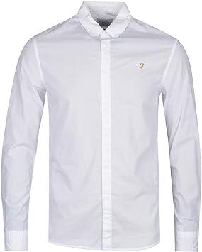 Farah Farley Slim Fit Camisa Blanca con Botones: Amazon.es: Juguetes y juegos