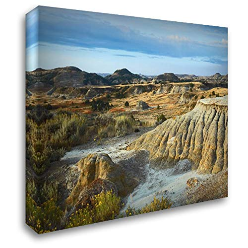 Badlands, South Unit, Theodore Roosevelt National Park, North Dakota 37x28 Gallery Wrapped Stretched Canvas Art by Fitzharris, Tim