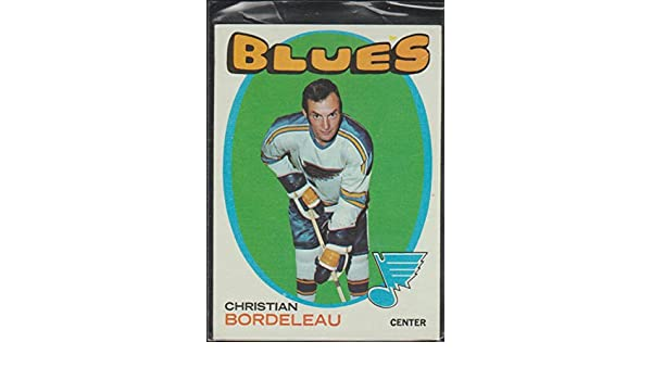 1971-72 Topps Christian Bordeleau Blues Hockey Card #51 at ...