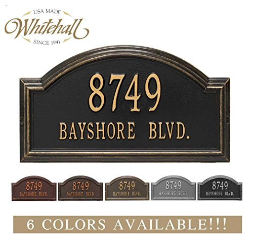Address Plaque Number Display - Metal Address Plaque Personalized Cast The Providence Arch Plaque. Display Your Address and Street Name. Custom House Number Sign.