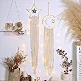 Ainesy 8 Pieces Metal Dream Catcher Rings Hoop Moon