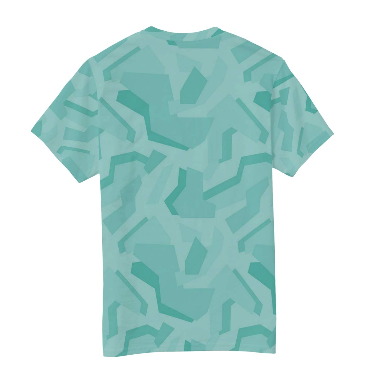 Horatiood Huberyyd Youth Camo Ultramarine Green Mens T Shirts Graphic Funny Body Print Short T-Shirt Unisex Pullover Blouse