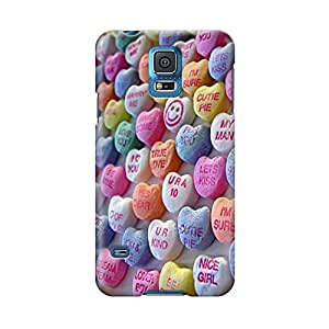 S50720 Love Hearts Glossy Case Cover For Samsung Galaxy S5 by Maris's Diary