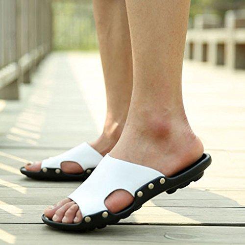99b05008ba5 Xing Para Verano Deslizante Flop Chanclas Los White Verano Prendas De Zapatillas  Playa Hombres Lin Hombre Flip Vestir En Cuero Sandalias SOPYRqSar