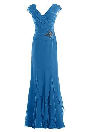 Gorgeous Bride Modisch V-Ausschnitt Etui Chiffon Lang Abendkleid Festkleid  Ballkleid: Amazon.de: Bekleidung