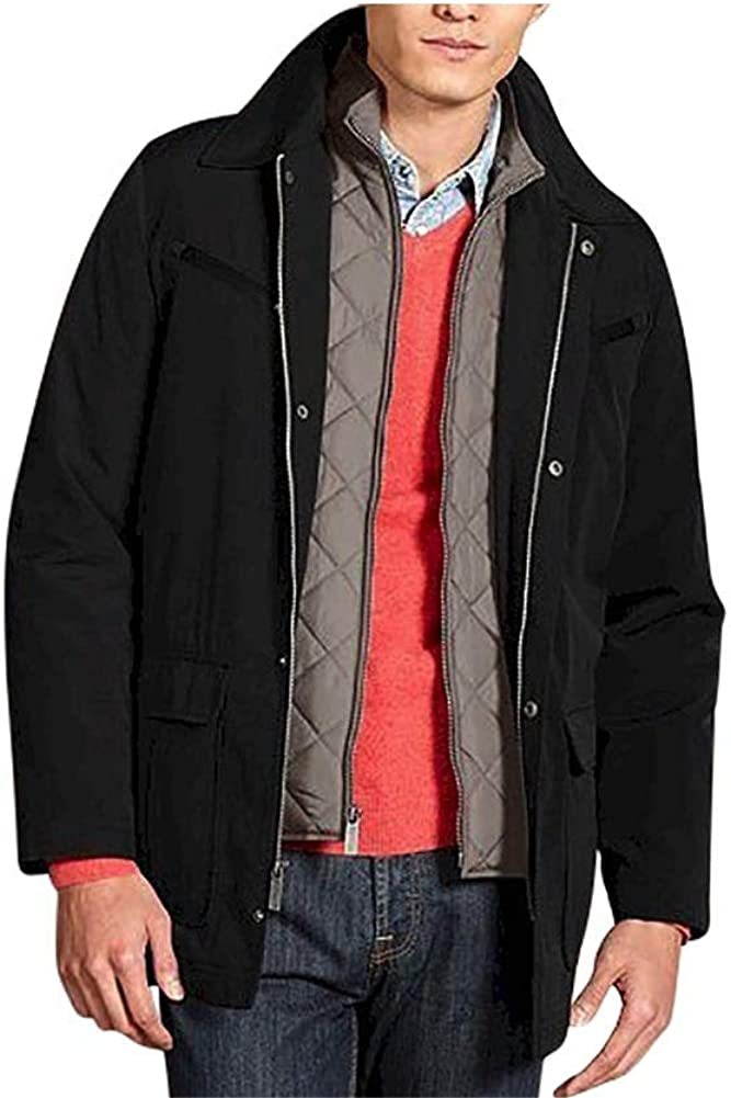 Nautica Big and Tall Black Men's System Jacket with Zip Out Vest