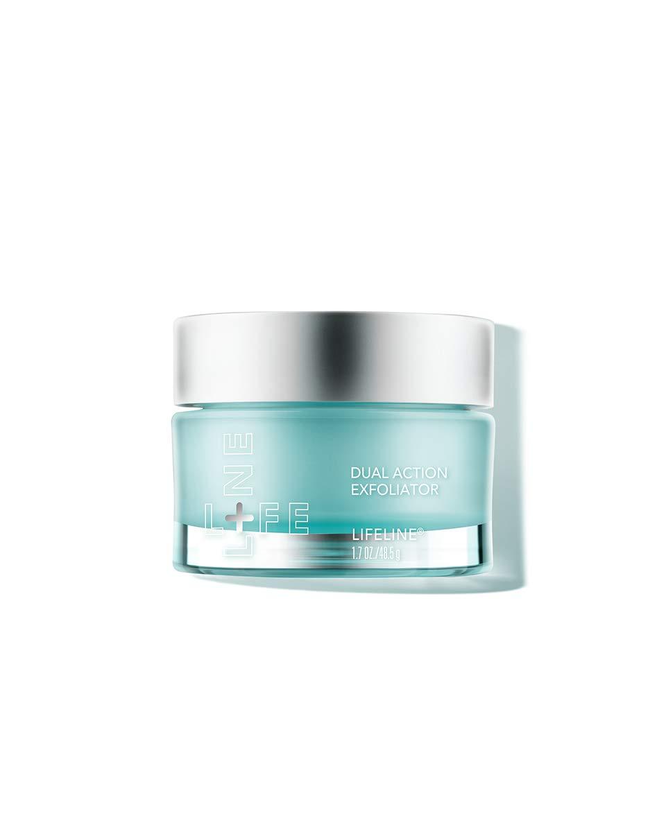 Lifeline Dual Action Exfoliator Glycolic Ccid and Microcrystals Exfoliate Dead Skin Cells. Includes Vitamins and Antioxidants to Fortify Skin