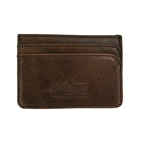 Three amp; Dark Waxed Leather Langdale Card Port Twill Holder Slots Credit 5aqUwYHx