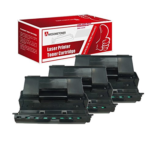 Awesometoner Compatible 3 Pack Toner Unit For QMS 5650 A0FP011, Konica Minolta PagePro 5650 Toner Cartridge High Yield Black 25000 Pages