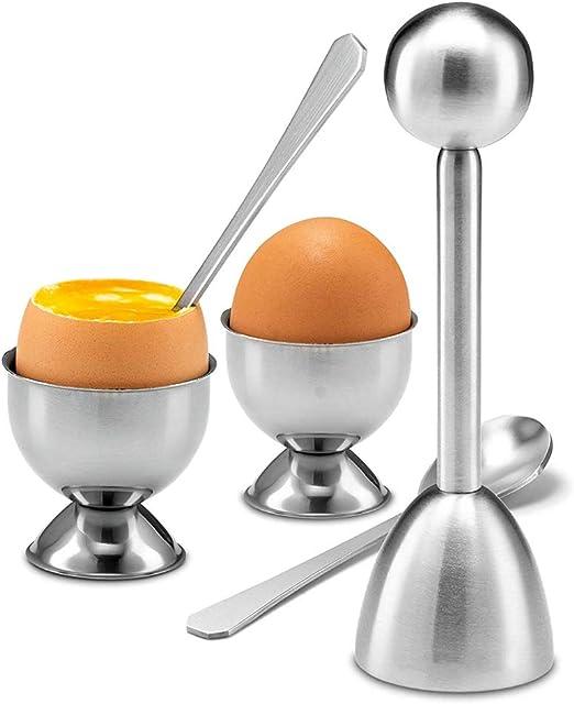 Lot de 2 s/éparateurs d/'/œufs en acier inoxydable