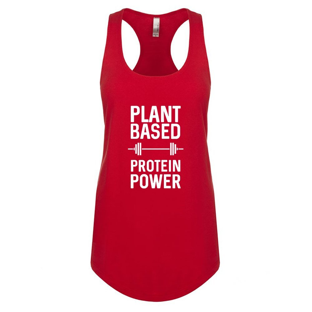 Mad Over Shirts Plant Based Protein Power Unisex Premium Racerback Tank top