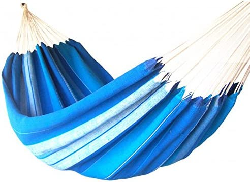 Hamaca de algodón océano – Hamaca 360 x 130 cm – Hamaca azul ...