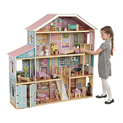 Amazon Com Kidkraft Grand View Mansion Dollhouse With Ez Kraft