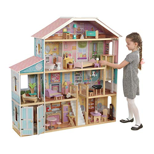 Maison de poupée KidKraft Grand View Mansion avec ensemble Ez Kraft, multicolore