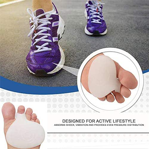 ️ Yu2d ❤️❤️ ️1Pair Gel Silicone Heel Grip Forefoot Liner Shoe Insole Pad Foot Care Protector