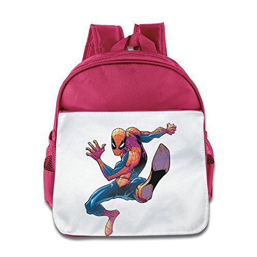 Price comparison product image JXMD Custom Funny Spiderman Homecoming Boys And Girls Shoulders Bag For 1-6 Years Old Pink
